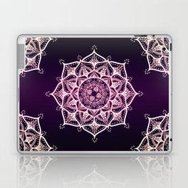 Violet Glowing Spirit Mandala Laptop & iPad Skin