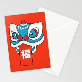 Happy Chinese New Year - Lion Dance Stationery Cards