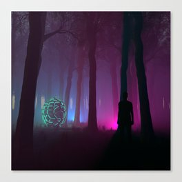 He found them in the woods. Canvas Print