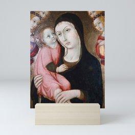 Sano di Pietro - Virgin and Child with Four Angels Mini Art Print
