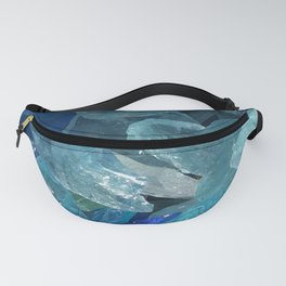 Blue Crystals Fanny Pack