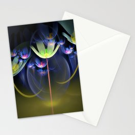 3D Color Flowers Stationery Cards