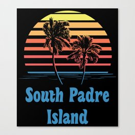 South Padre Island Texas Sunset Palm Trees Canvas Print