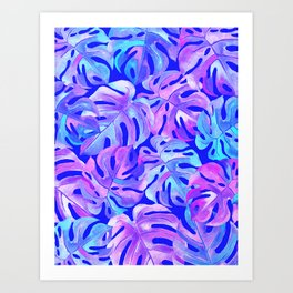 Palm Leaves in Bold Colors Art Print