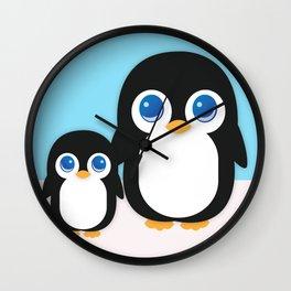 Adorable Penguins Wall Clock