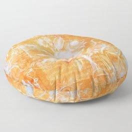 French Twist Orange Floor Pillow