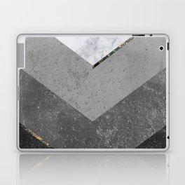 Marble Gray Copper Black Gold Chevron Laptop & iPad Skin