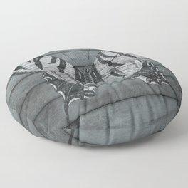 Wood Butterfly Floor Pillow