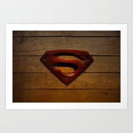 SuperWood Art Print
