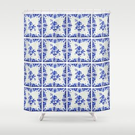Dutchie Blues 3 Shower Curtain