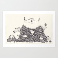 bamboo Art Prints featuring bamboo by yohan sacre