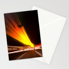 Expressway Abstract Night Photograph Stationery Cards