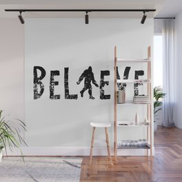 I Believe Yeti Bigfoot Sasquatch Wall Mural