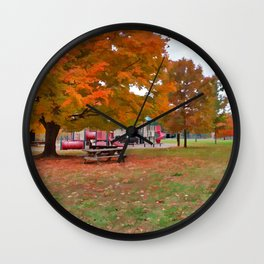 Autumn Playground Wall Clock