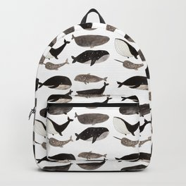 Black and white whales Backpack