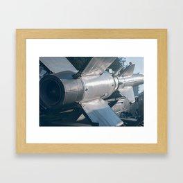 Ballistic Rocket. Nuclear Missile With Warhead. Framed Art Print