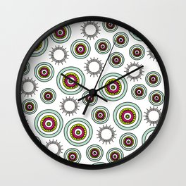 Shinning  dtars in blueand pink Wall Clock