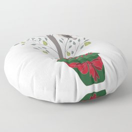 12 Days of Christmas Partridge in a Pear Tree Floor Pillow