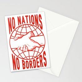 No Nations No Borders Stationery Cards