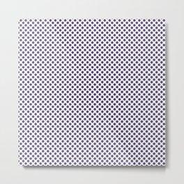Gentian Violet Polka Dots Metal Print