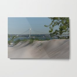 Verrazzano-Narrows Bridge view from Kaiser Park in Coney Island Metal Print