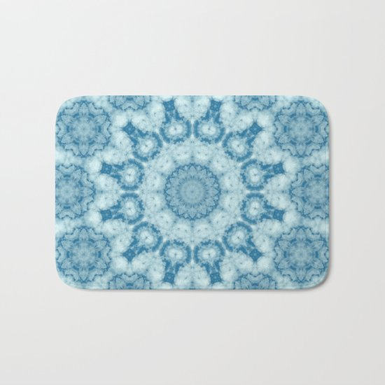 Beautiful blue sky mandala Bath Mat