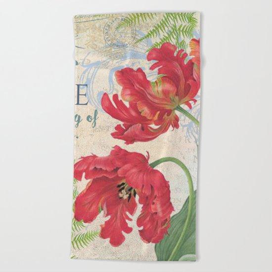 Vintage Flower #21 Beach Towel
