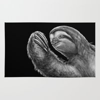 sloth Area & Throw Rugs featuring Sloth by Tim Jeffs Art