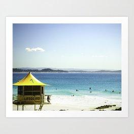 a day at the Beach 7 Art Print