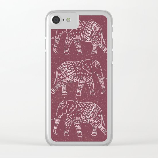 Yoga Elephant 2 Clear iPhone Case