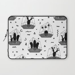 Cactuses In Glass Terrariums with Geometric Laptop Sleeve