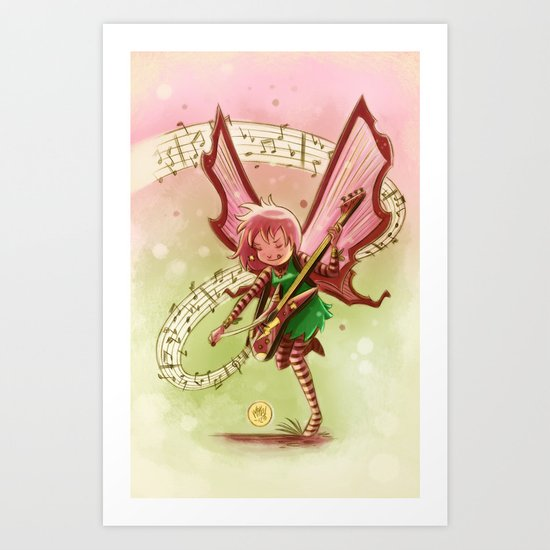 Goblins Drool, Fairies Rule! - Candy Rock Art Print