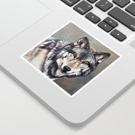 Timber Wolf by Alan M Hunt Sticker
