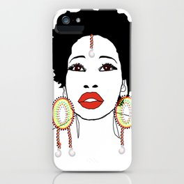 Maasai Earrings iPhone Case
