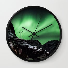 Aurora in Lofoten, Norway (II) Wall Clock