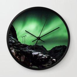 Aurora in Lofoten, Norway (II) Wall Clock