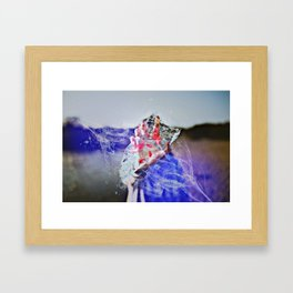 Cold Red Feathers by GEN Z Framed Art Print