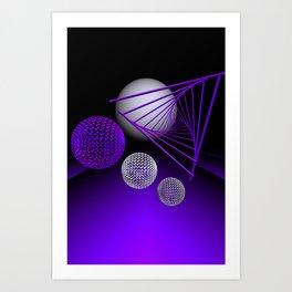violet geometry -102- Art Print