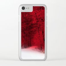 Red Forest Clear iPhone Case