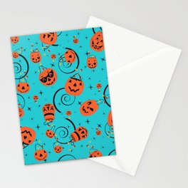 Halloween Magic- Turquoise Stationery Cards