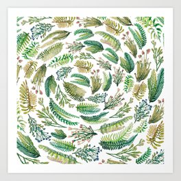 circular garden Art Print