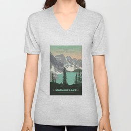 Moraine Lake Poster Unisex V-Neck