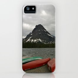 Two Medicine Lake With Sinopah Mountain iPhone Case