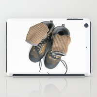 hiking iPad Cases featuring Hiking Boots by Ann Horn