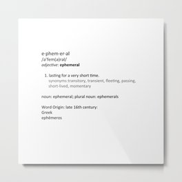 Ephemeral Metal Print