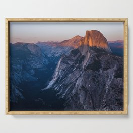 Sunkissed Half Dome at Sunset Serving Tray