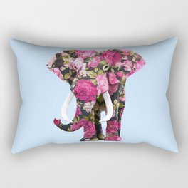FLORAL ELPHANT Rectangular Pillow