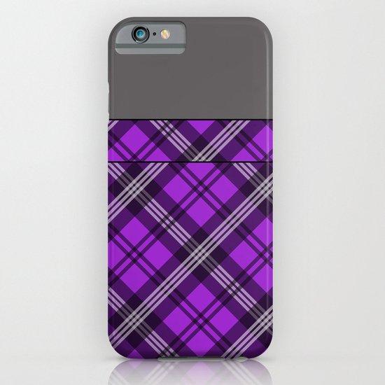 Scottish Plaid (Tartan) - Purple iPhone & iPod Case