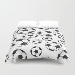 Soccer Balls Duvet Cover
