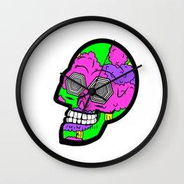 Psych Skull Wall Clock